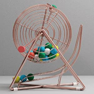 bingo cage with balls