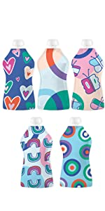 Squooshi Reusable Squeeze Food Pouch Simple Modern Designs