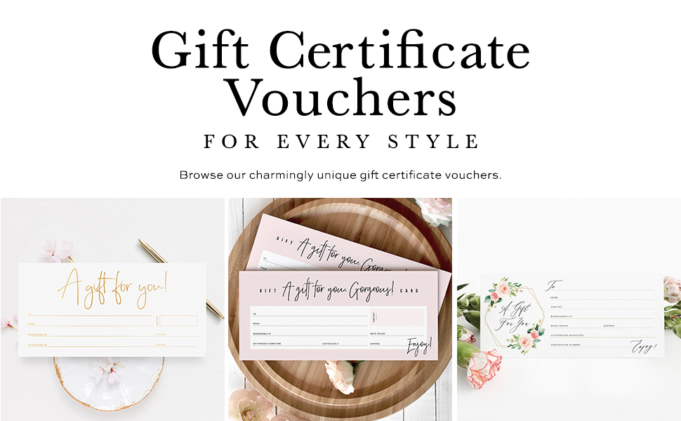 Gift Certificate Vouchers Card for Small Businesses