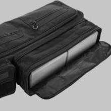 An expandable pocket that fits 2 yoga blocks