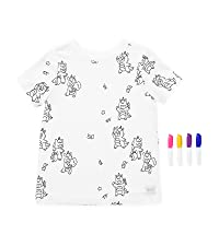 2-in-1, transforming, fun, kids t-shirt, girl t-shirt, boy t-shirt, magical, markers, animal