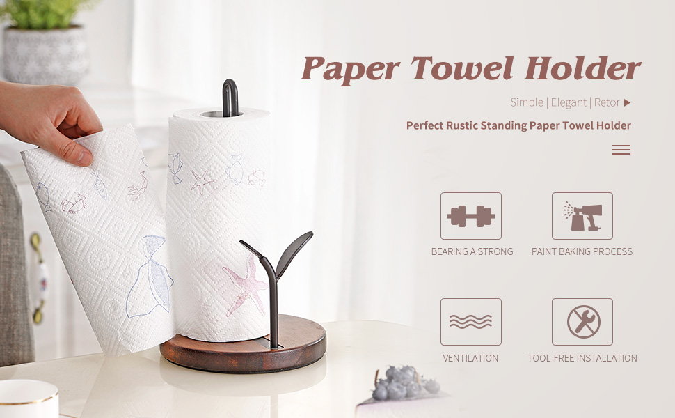 YIWANFW paper towel holder