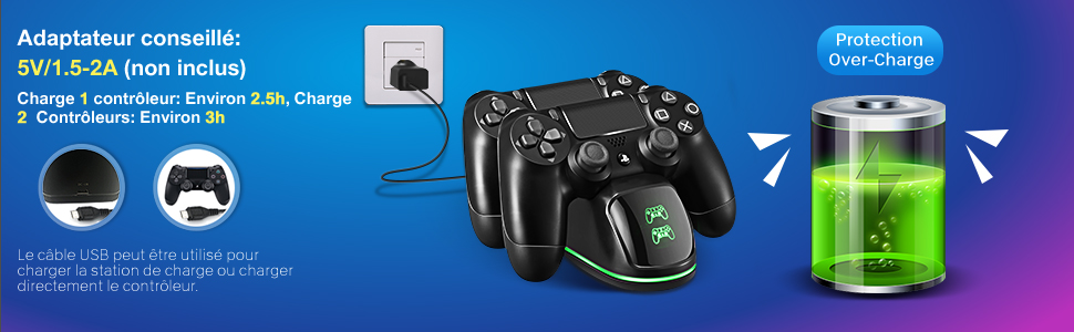 Chargeur Manette PS4