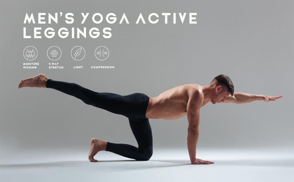 Willit Men's Active Yoga Leggings Pants