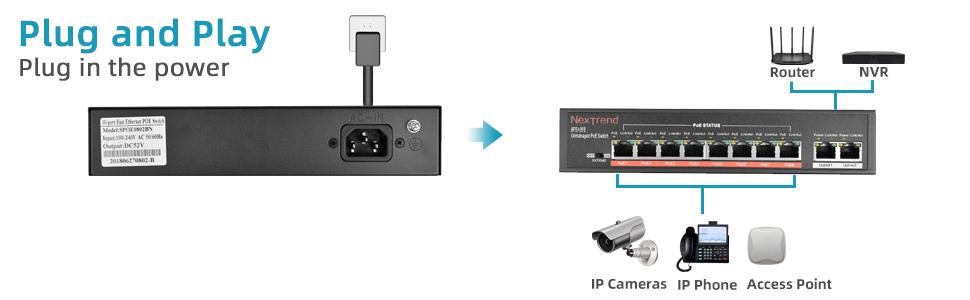 8 Port PoE Switch - 970-300
