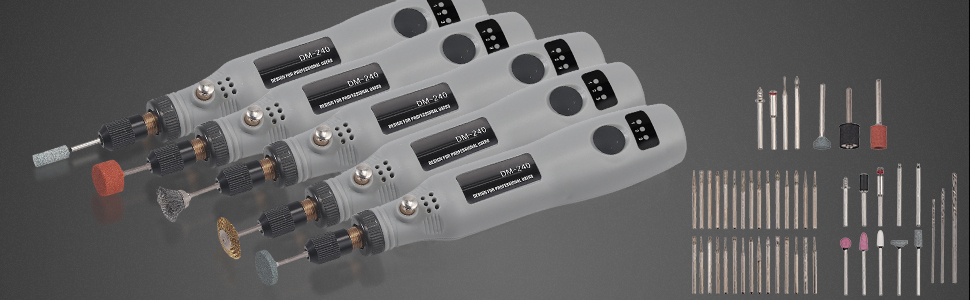 AUTOUTLET 160 PCS Mini Rotativas El/éctrica Inal/ámbrica Rectificadora Ajustable M/áquina de Tallado de Jade Tallado de Ra/íces Pluma de Grabado USB Multifunci/ón Producci/ón de Bricolaje