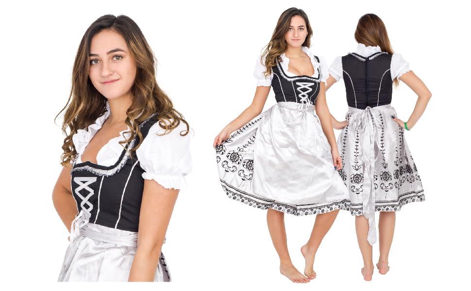 Dirndl Bavarian Traditional Alps Oktoberfest German Beer Girl Costume 1128