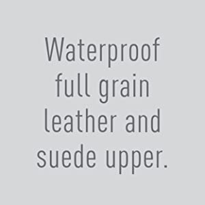 Waterproof full grain leather and suede.