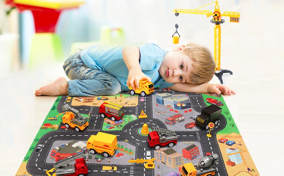Mini Construction Vehicle Play Set