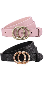 double buckle belts women