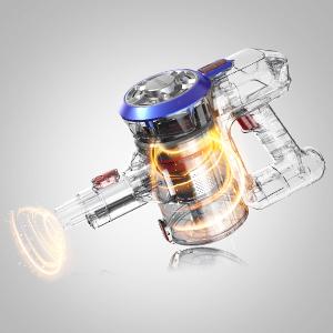 PAVLIT Aspirateur Balai Sans Fil Sans Sac 2 En 1 Aspirateur Balai Puissant 9000Pa Forte Aspiration, Rechargeable Batterie, 2 Vitesses, Silencieux et