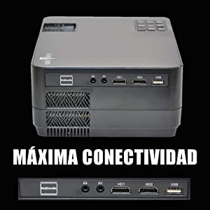 maxima conectividad hdmi 1 hdmi 2 usb multimedia mkv ac3 dolby digital vga mini jack bluetooth wifi