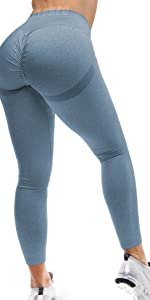 Scrunch Butt Lift Leggings for Women Workout Yoga Pants Ruched Booty High Waist Seamless Leggings
