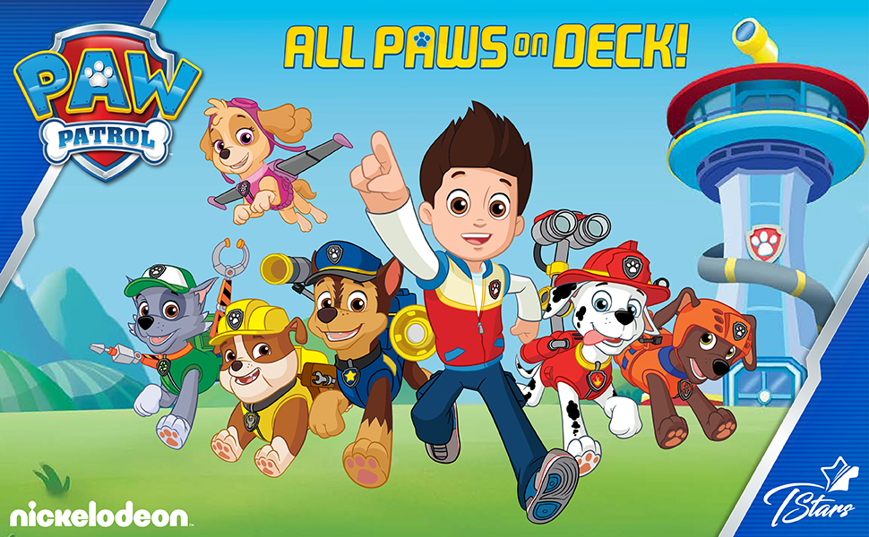Paw Patrol shirts collection banner race to the rescue ready for action