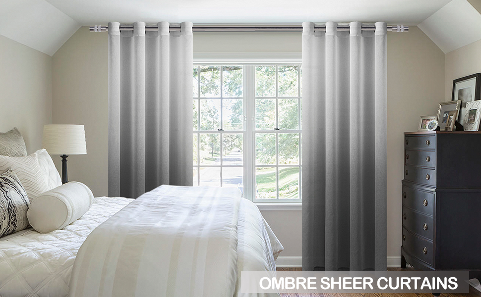 Ombre Sheer Curtains
