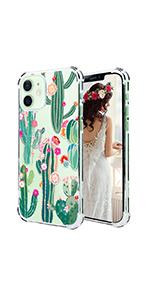cactus flowers iphone 12 case