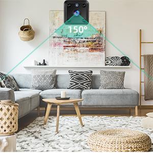 Compact indoor plug-in smart security camera