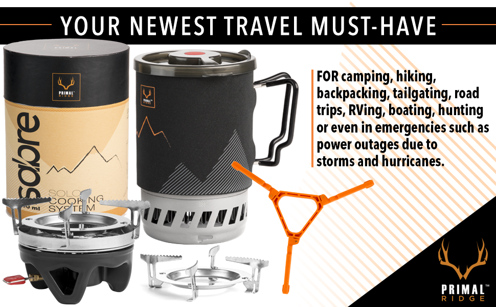 Backpacking stove for camping, hiking, tailgating, road trips, rving, boating, hunting & emergencies