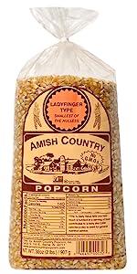Ladyfinger Popcorn Kernels Amish Country Popcorn Old Fashioned Microwave Stovetop
