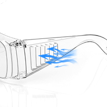 Two louvers are designed for ventilation, which can keep the inside of  the glasses