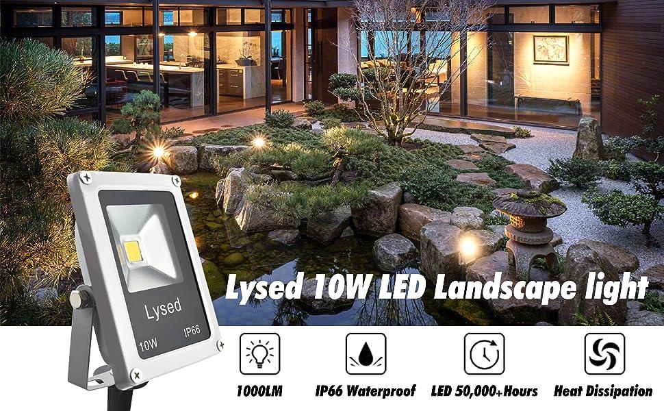 6 Pack Outdoor Led Landscape Lights 12V 10W Low Voltage Waterproof Garden Tree