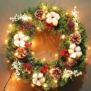 wreath decorative lights