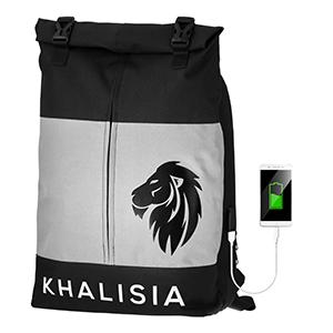 Damen Rucksack Daypack Rolltop Fahrradtasche Laptoptasche Khalisia grau Usb charge klein kompakt