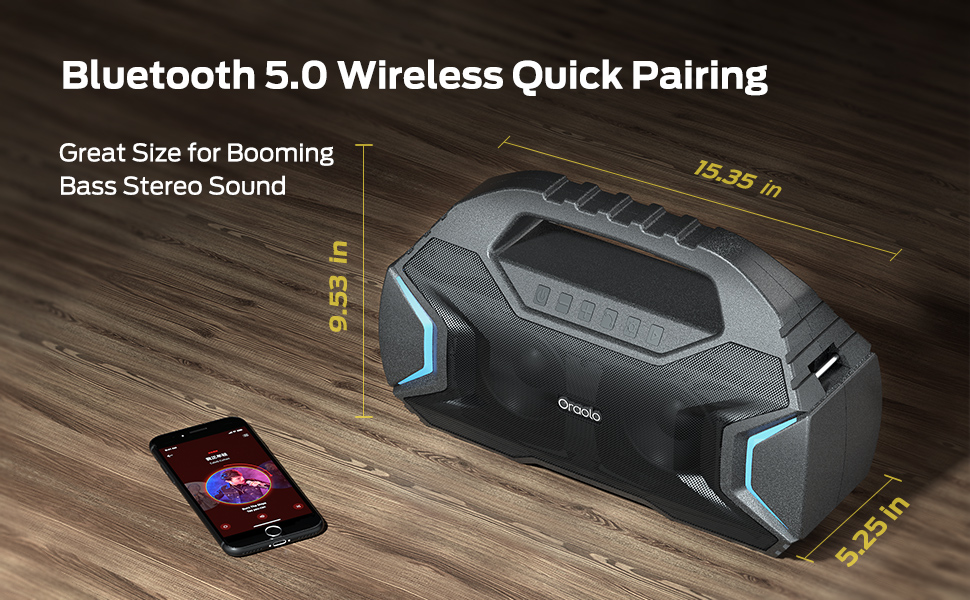 bluetooth 5.0 wireless speaker