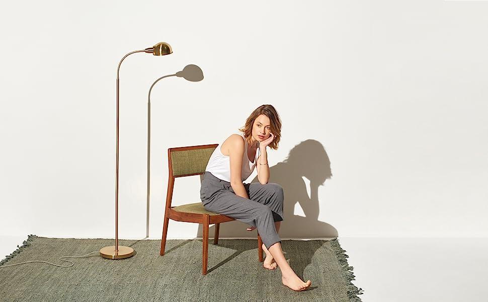 Brightech Regent - LED Reading, Craft amp; Task Floor Lamp