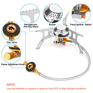 Windproof Portable Gas Stove