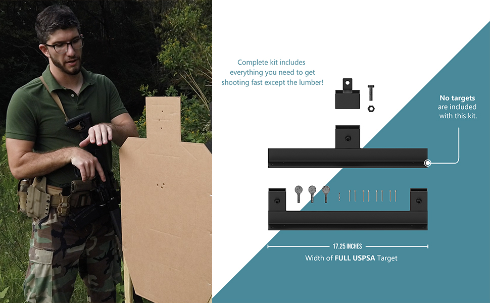 stands guns and base accessories ipsc set plastic clay tree shoot military gong cal outdoo