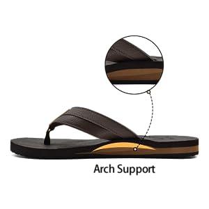 flip flops arch support men