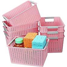 8PCS  Weave Pattern Storage Bin