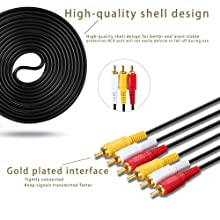 RCA M/Mx3 Audio/Video Cable Gold Plated