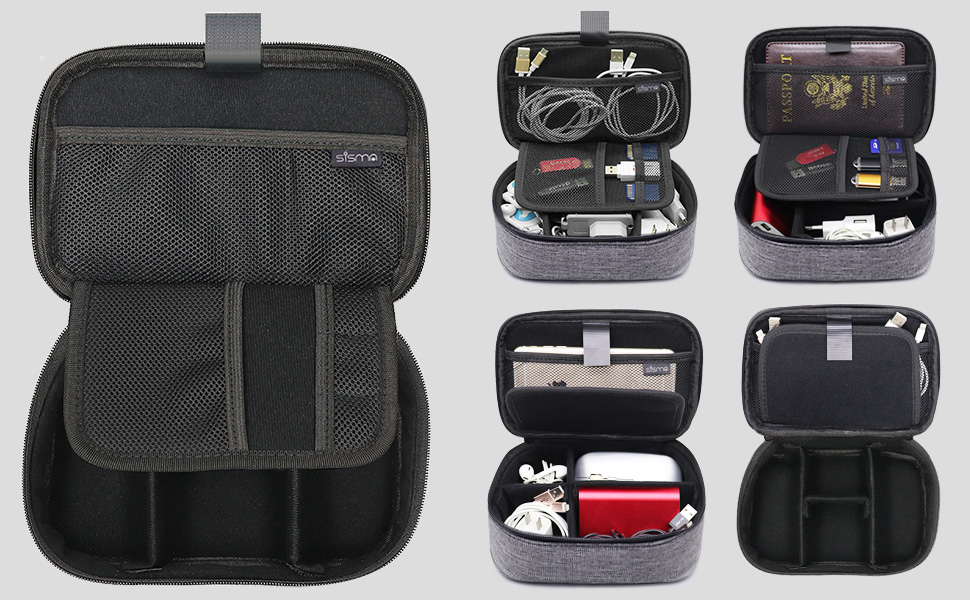 electronics organizer carrying bag organize cable cord accessories travel