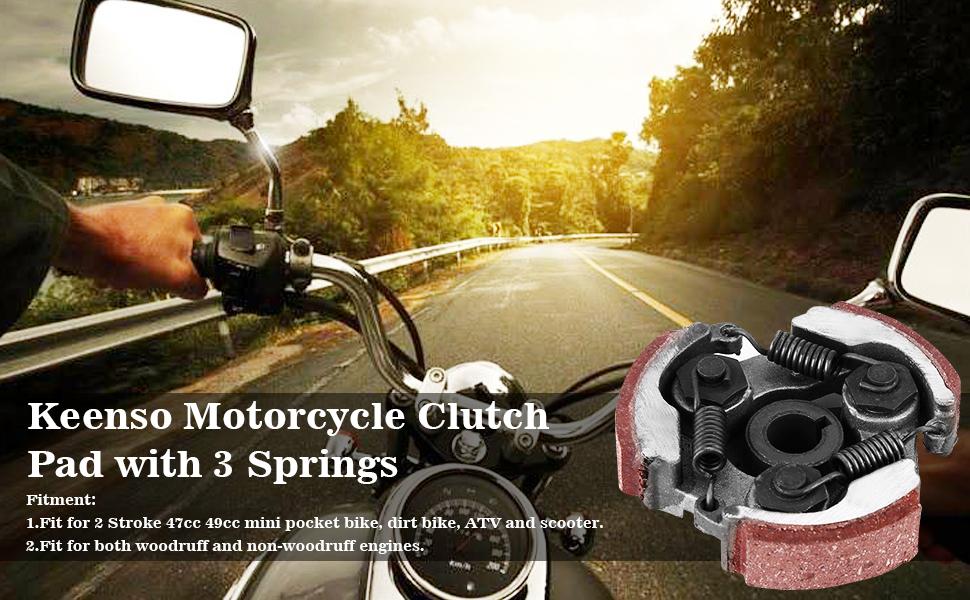 Pocket Bike Kupplung Mit 3 Federn Für 2 Hub 47cc 49cc Mini Quad Pocket Bike Dirt Bike Auto