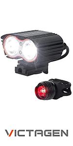 2400 lumens super bright bike light and free taillight