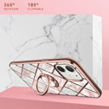 i-Blason Cosmo Snap Slim Case with Rotatable Ring Holder for iPhone 12 Mini 5.4 2020