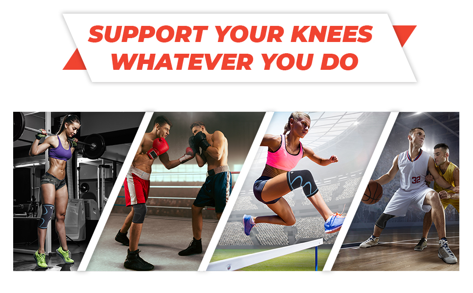 knee brace for pain relief compression sleeve brace support working out plus size men women running