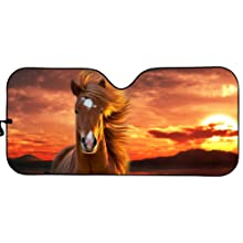 Horse  Car Sun Shade for Window Front