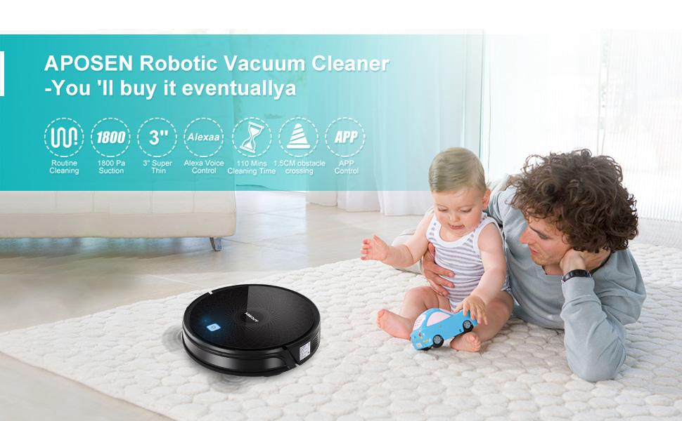 APOSEN Robotic Vacuum Cleaner