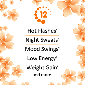 Relieves hot flashes night sweats mood swings low energy weight gain and more