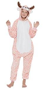 Kids Pink Reindeer