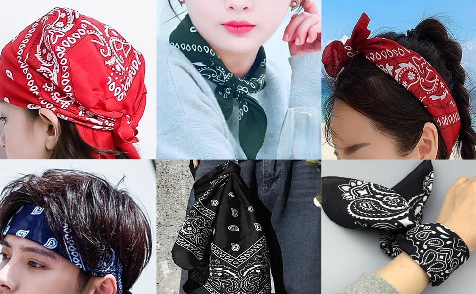 3 Paquetes De 12 Paliacates De Algodón Para Hombres Y Mujeres Paliacate Para La Cabeza Pañuelo De Cachemira Talla única Clothing