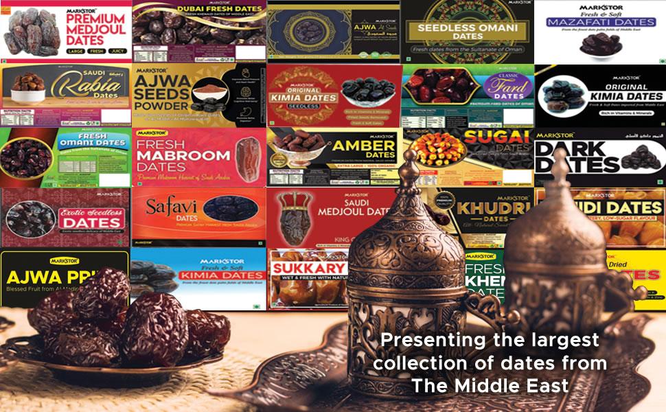 dates, dry fruit, khajoor, ajwa, medjoul, safavi, kalmi, kimia, seedless, omani