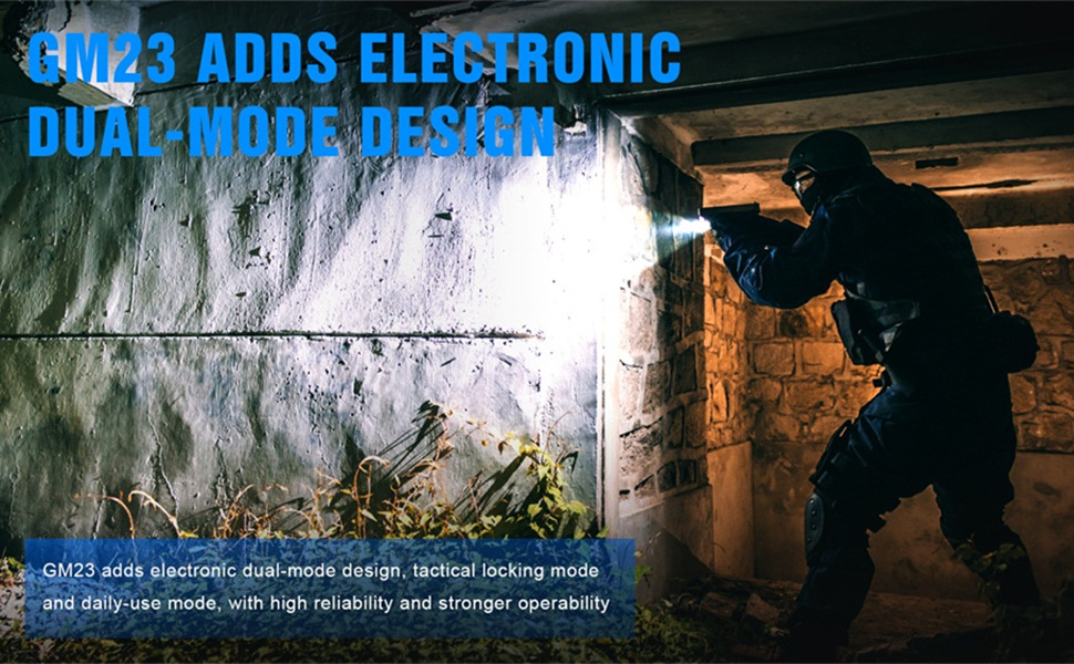 TrustFire GM23 800Lm Glock Rail Flashlight USB chargeable Tactical Pistol Light