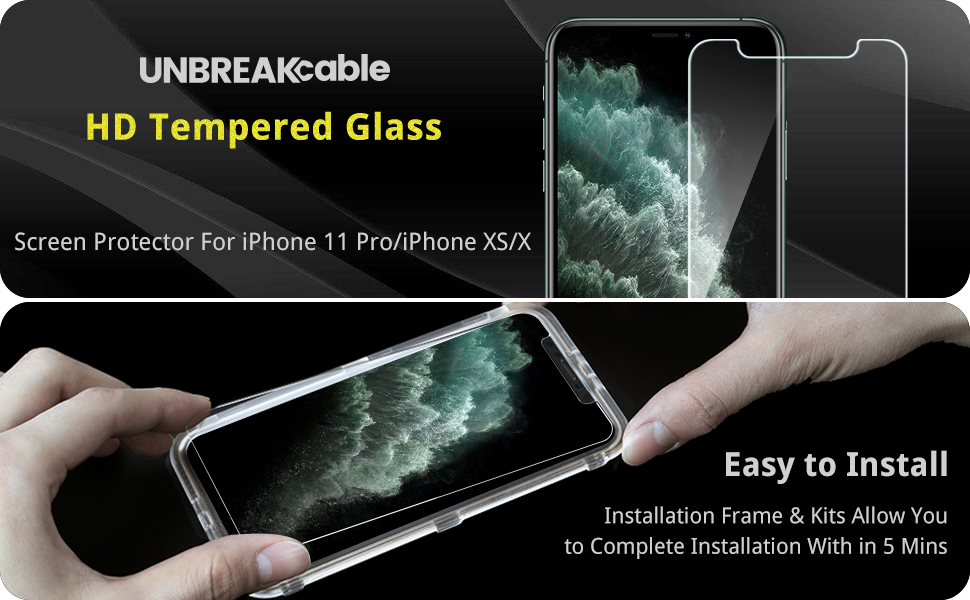 ubreakcable screen protector for iphone 11 pro