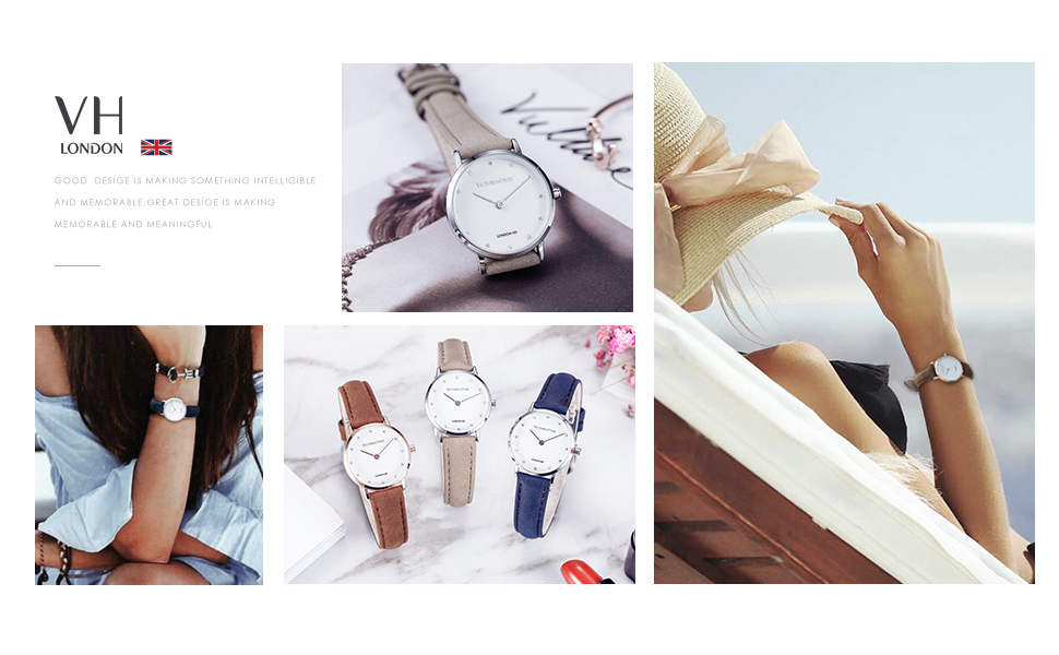 women watches ladies wristwatch genuine leather strap small dial quartz waterproof blue watch gifts