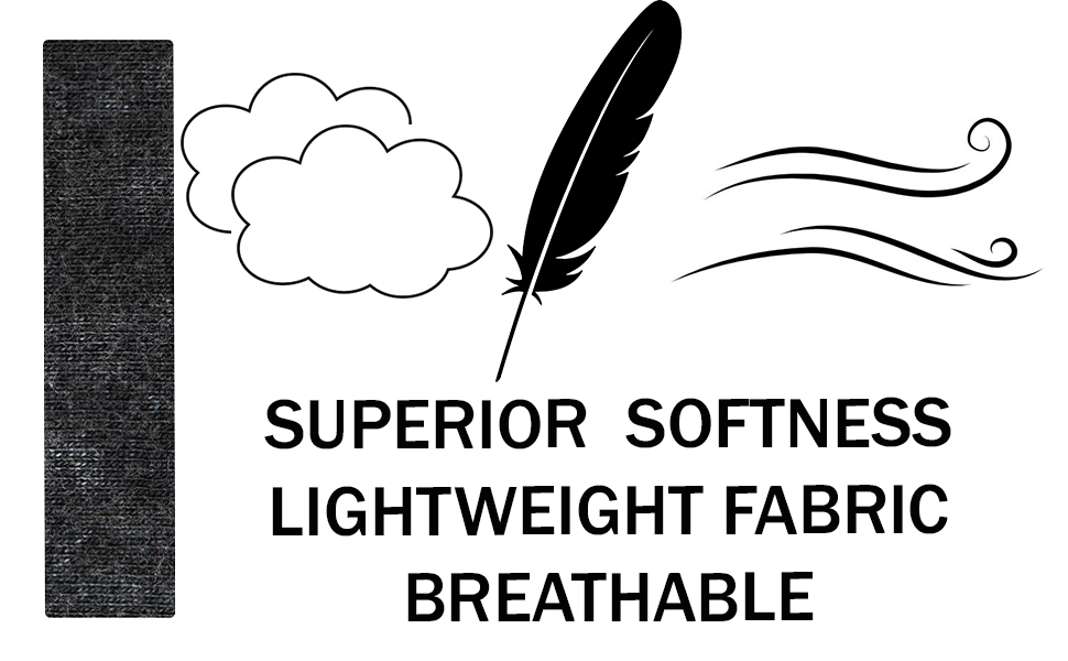 softness lightweight breathable fabric