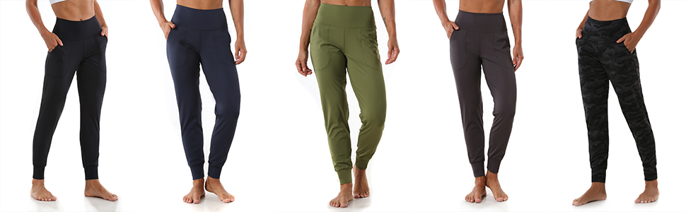 Joggers for women, sweatpants for women, high waist, side pockets, non see through, tummy control